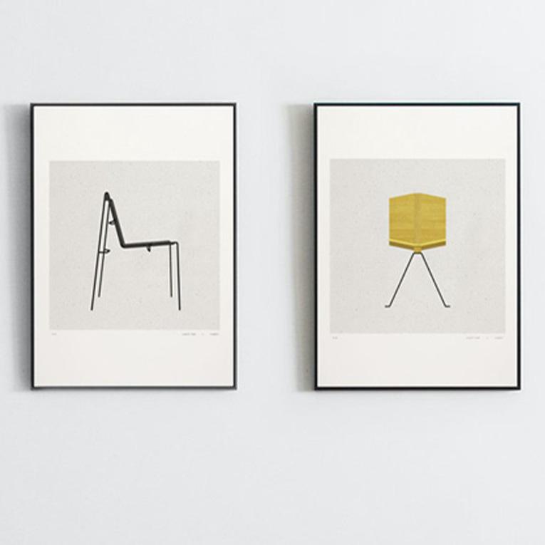 Desplan-chaises sur mur